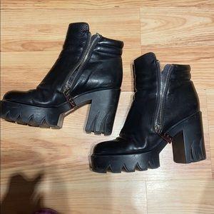 Sasha Fabiani leather boots